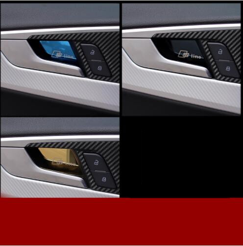 Car 4 pcs Stainless Steel interior door bowl doorknob decoration ...
