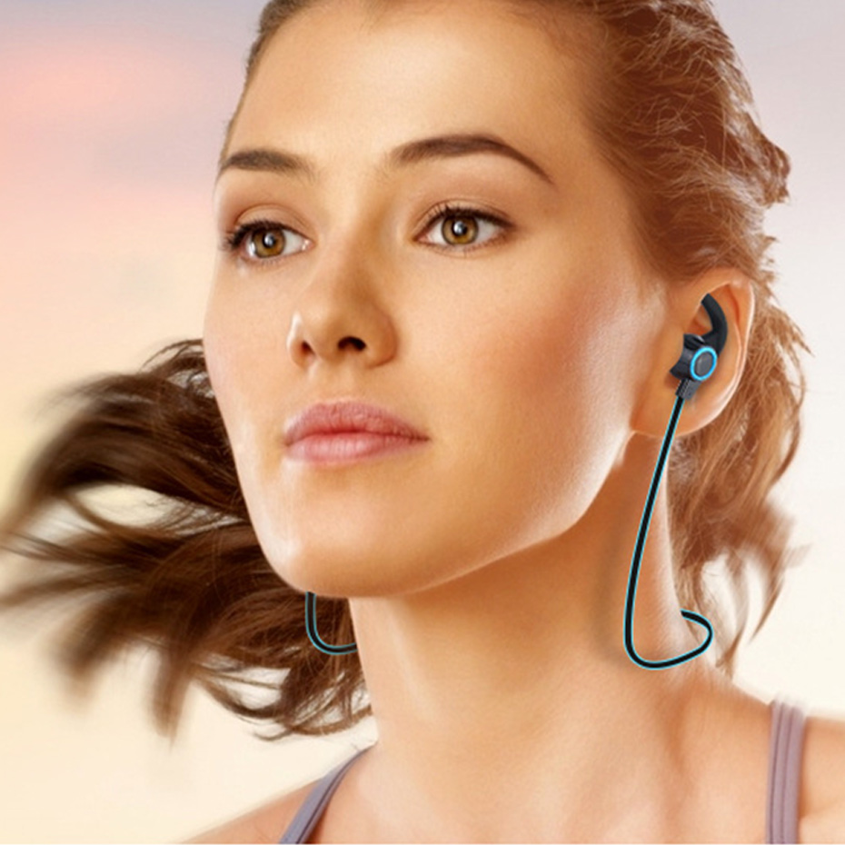 Wireless Headphone Bluetooth IPX4 Waterproof Earbuds Headset Stereo Music Earphones with Microphone for iPhone/Android Phones 3