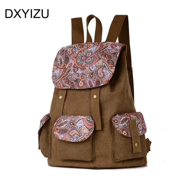15b3896099c vintage floral canvas women backpack school bag for girls cute korean  backpacks men travel bags lady shoulder bag mochila bolso