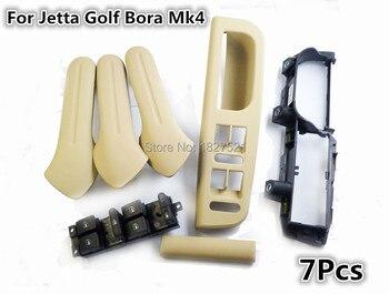 7 adet Set Köprü Kol Dayama kolu Iç Kapı kulp kılıfı Anahtari Bezel Trim kulp Braketi VW Jetta Bora Golf 4