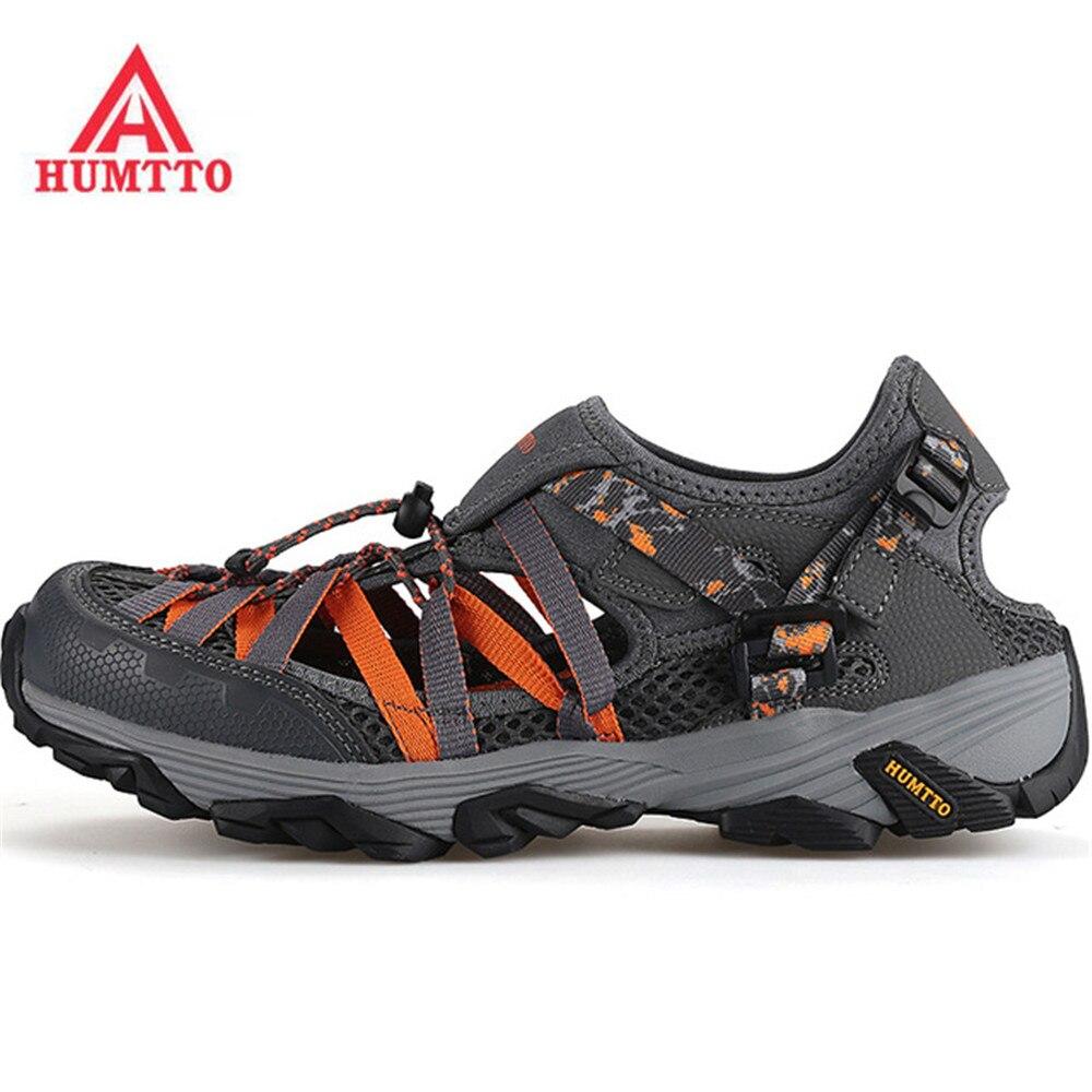 competitive price 92fca 4e95d US $45.54 43% di SCONTO HUMTTO uomo Estate Outdoor Acqua Trekking Sandali  Da Trekking Scarpe Calzature Per Gli Uomini di Sport Trampolieri di Pesca  ...