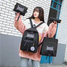 Opens Season Four Set Book Package Small Fresh Both Shoulders Package Canvas Woman Campus Student Backpack(China)