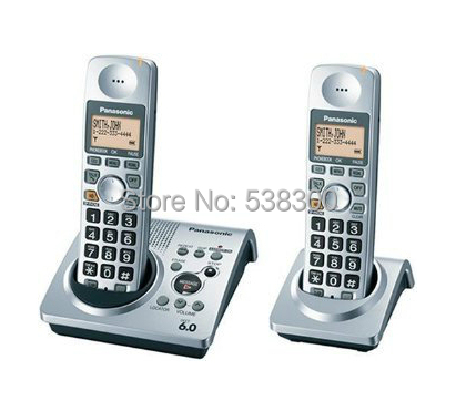 ФОТО KX-TG 1031s Dect 6.0 Cordless Phone Set 2 Handsets Digital Wireless Telephone Recording Stand-alone Home Phone