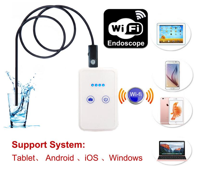 Цена за Беспроводной Wi-Fi 8 ММ Камера-Эндоскоп IOS Iphone Wi-Fi USB Android Бороскоп Эндоскопа Инспекционной Водонепроницаемая Змея Кабель Камеры