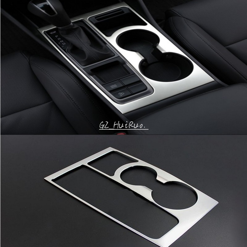 Stainless Steel Accessories For Hyundai Tucson 3th 2016 Car Gear Panel Stick Cover Interior Decoration Trim stainless steel full window with center pillar decoration trim car accessories for hyundai ix35 2013 2014 2015 24