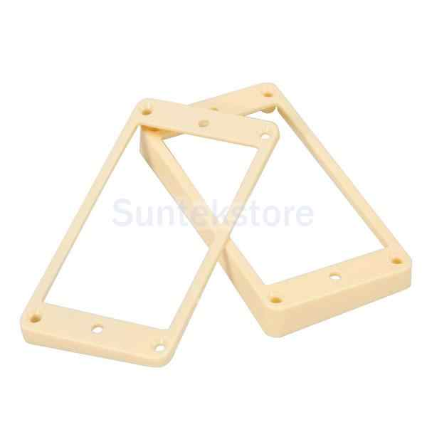 Cream Curved Humbucker Pickups Frames Mounting Rings for LP Electric Guitar