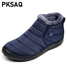 Plus Size 35-46 Women Winter Snow Shoes 2019 New Snow Boots Warm Plush Antiskid Bottom Thermal Waterproof Unisex Ski Boots(China)