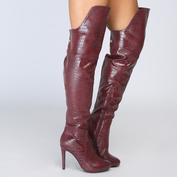 Winter Boots Women Plus Size Sexy Over The Knee Boots High Heel Round Toe Zip Thigh High Long Lady Leather Botines Botte Femme Buy At The Price Of 97 28 In Aliexpress Com