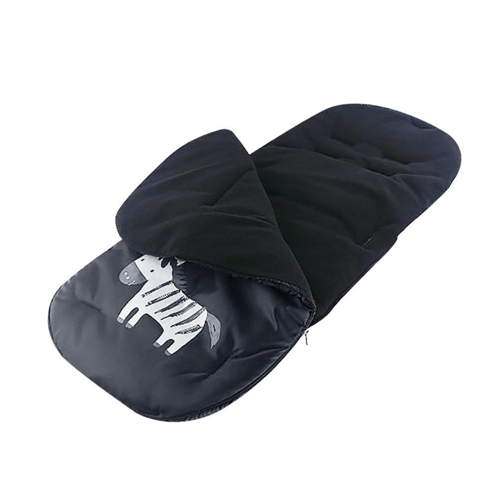 купить Windproof Baby Stroller Sleeping Bag Winter Thickened Fleece Carriage Seat Wrap Bag Waterproof Footmuff Black Baby Swaddle недорого