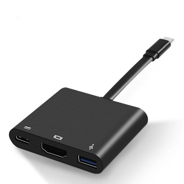 Adattatore USB C tipo C a HDMI cavo convertitore USB 3.0 USB C cavo adattatore porta di ricarica per MacBook/samsung Galaxy S8/Lumia 950Xl