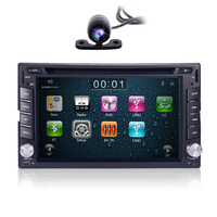 Double Din Car DVD Player Stereo Radio GPS Navi With 3D Map Auto HeadUnit Bluetooth steering wheel DAB SD DVD IPOD REAR Camera