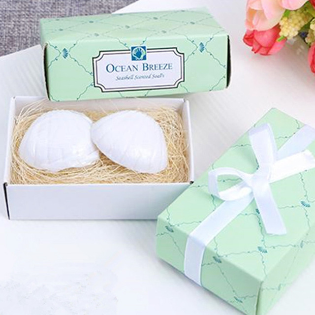 100sets/lot Wedding Favorsu0026Gifts Scented Soap Sea Shell Shape,Wedding Guests  Gifts,Baby