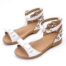 2017 Summer Style Girls Sandals Bowtie Princess Sandals Kids Party Shoes for Girl Children Sandals Girls Gladiator Sandals