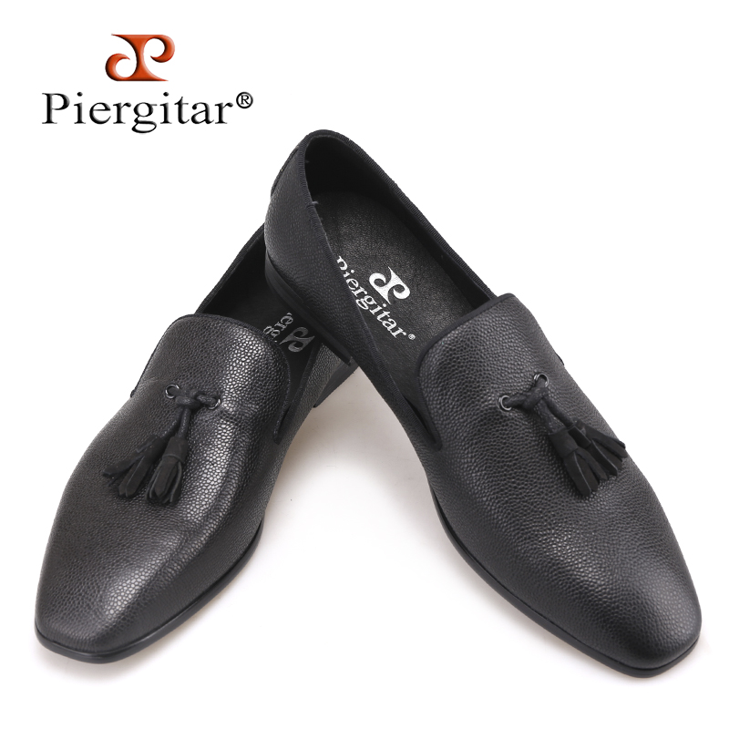 Aliexpress.com  Buy Piergitar Brand 2018 New Black Genuine Leather Menu0026#39;s Loafers Handmade ...