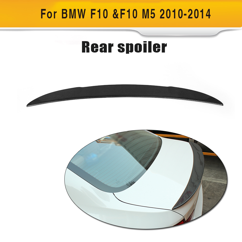 A style carbon fiber Car Rear Wind Spoiler for BMW F10 2010UP yandex w205 amg style carbon fiber rear spoiler for benz w205 c200 c250 c300 c350 4door 2015 2016 2017