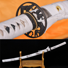 41″Handmade High Carbon Steel Japanese Samurai Katana Sword Sharp Blade White