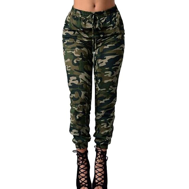 587585f4242fe 3XL 4XL 5XL Plus Size Joggers Women Camouflage Pants Sweatpants Print Elastic  Waist Casual Oversized Camo