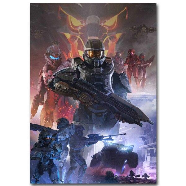 100% Kwaliteit Poster Nordic Halo 4 5 Guardians Master Chief Muur Canvas Schilderij Vedio Game Pictures Voor Woonkamer Decoratie Thuis Decor
