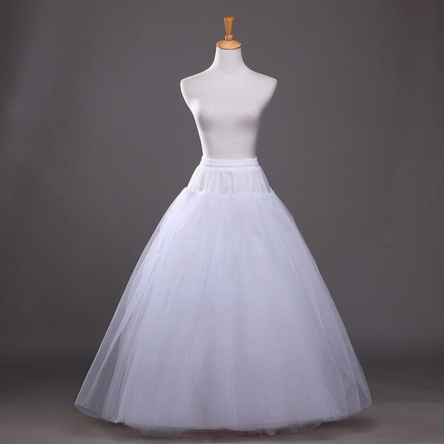 2016 nueva venta caliente alta calidad boda de la enagua nupcial blanco una línea estilo elástico cintura 65 cm - 85 cm largo palabra de longitud