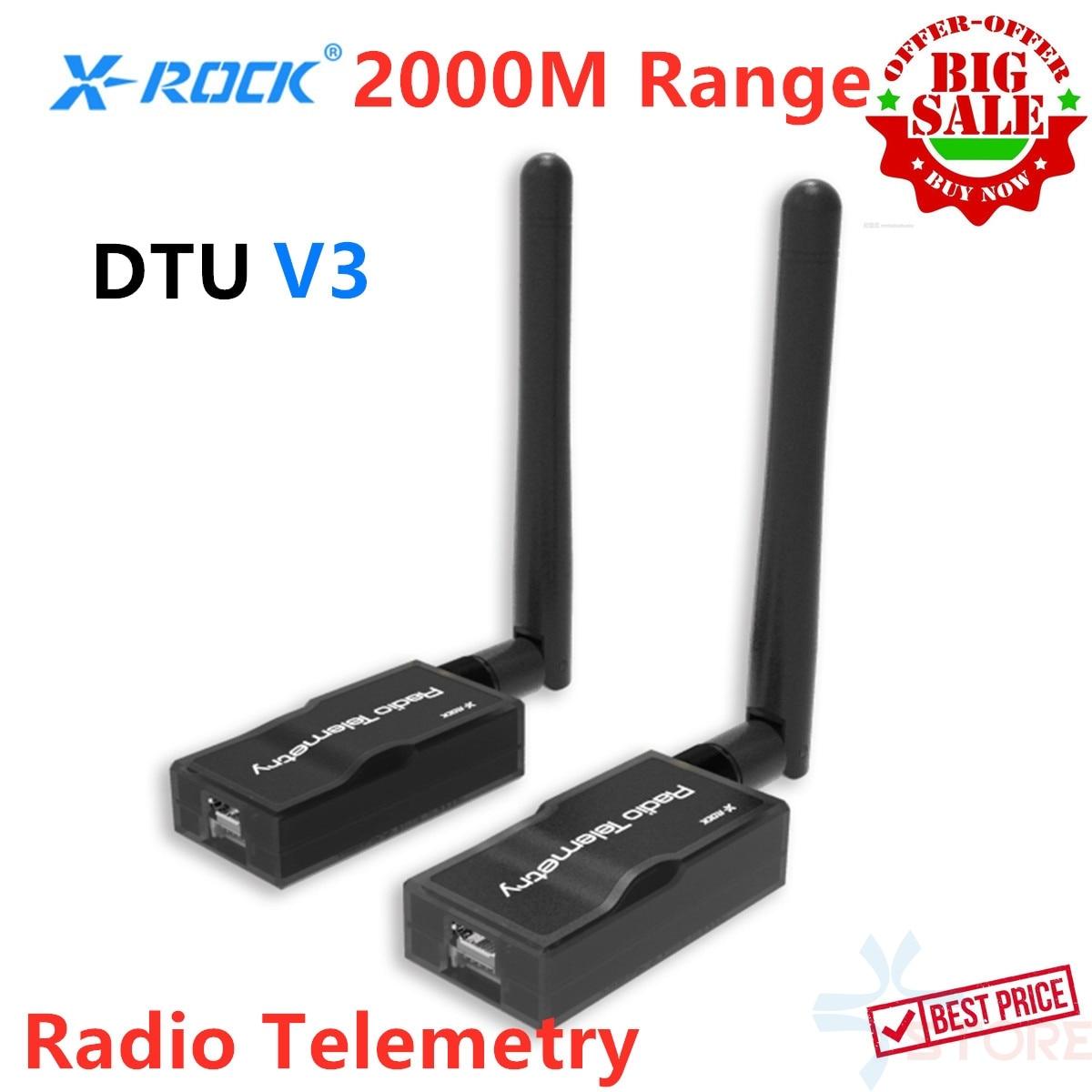 2KM Range XROCK V3 Air Ground Interchangeable 3DR Radio Telemetry Module 500mW 915Mhz 433Mhz for APM PIXHAWK Pixhack RC
