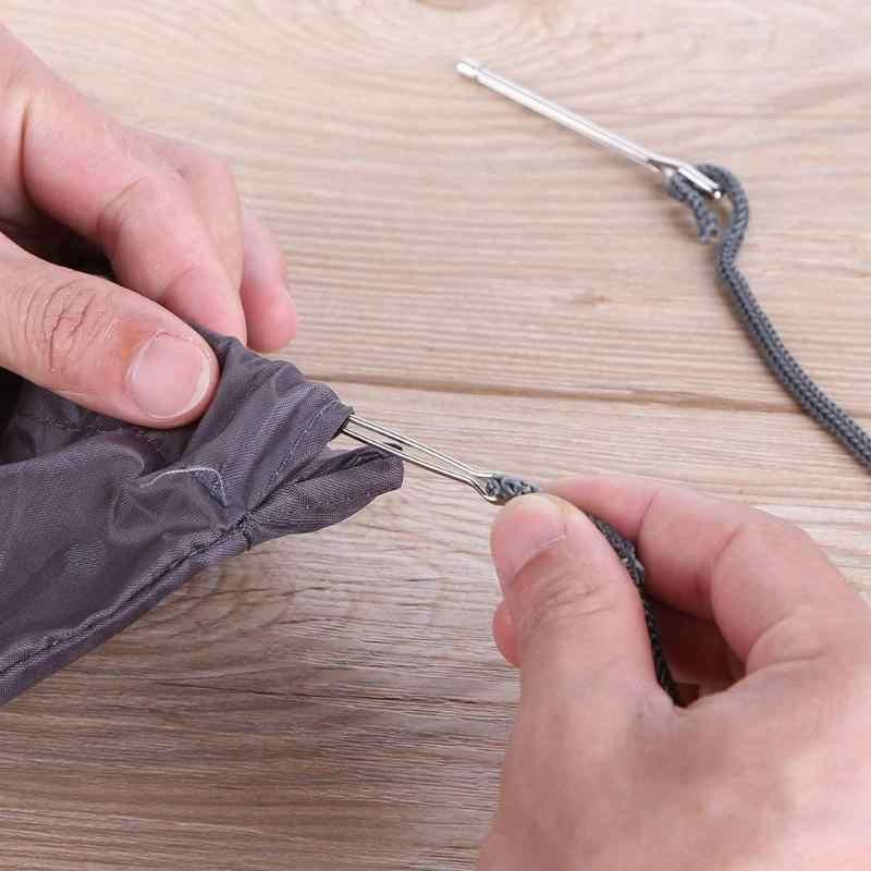 2 stuks Rvs Aangehaald Clips Elastische Riem Dragen Touw Weven Gereedschapstas Wrap Touw Dragen Naaien Accessoires Ambachten Tool