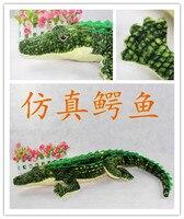 New Hot Stuffed Plush Animal Simualtion Crocodile Toy Doll Lovely Large 1.05M Quality Children's Birthday Gift