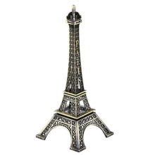 38CM High 3D Metal French Paris Souvenir Craft Eiffel Tower Crafts Statue Model Ornament Home Desk Figurine Decoration Bronze