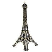 38CM High 3D Metal French Paris Souvenir Craft Eiffel Tower Crafts Statue Model Ornament Home Desk Figurine Decoration Bronze
