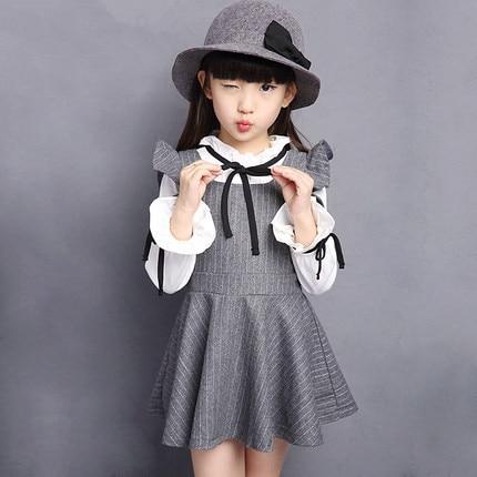 9ea539784 € 20.66 |2015 nuevo invierno otoño chicas grandes ropa para 4 6 8 10 12  años lindo ruffles negro de manga larga kid vestido de niña vestido de ...