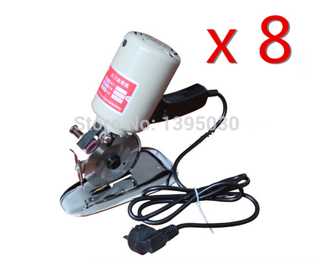 8PCS Lot New 200W 90MM Electric Scissors Round Cutting Machine font b Knife b font Electric