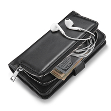 Multifunctional Detachable Zipper Wallet Case For Samsung Galaxy S7/ S7 Edge PU leather Flip Cover Phone Bag For Galaxy S7 Edge