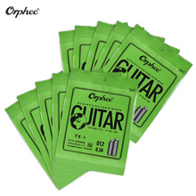 Orphee TX-1 Single Guitar String for Acoustic Folk Guitar 10-Pack High-carbon Steel Core Phosphor Bronze Extra Light Tension