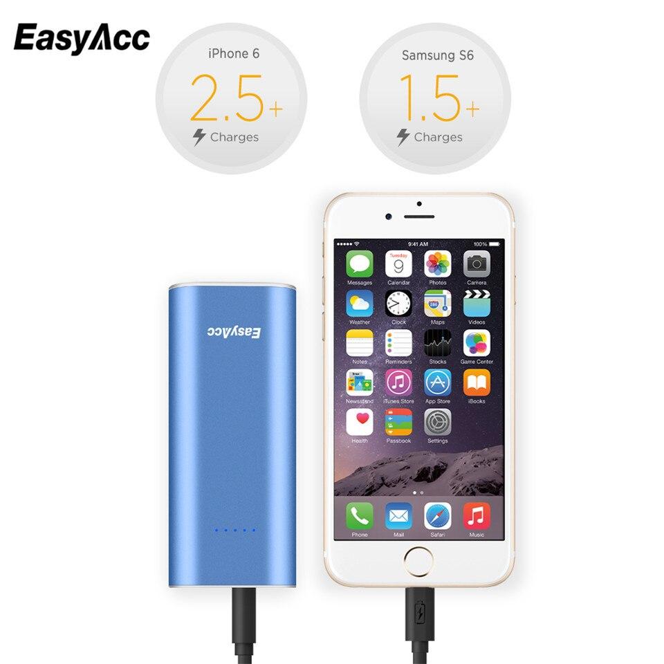 EasyAcc 6400mah Power Bank 18650 2.4A Smart Output ...