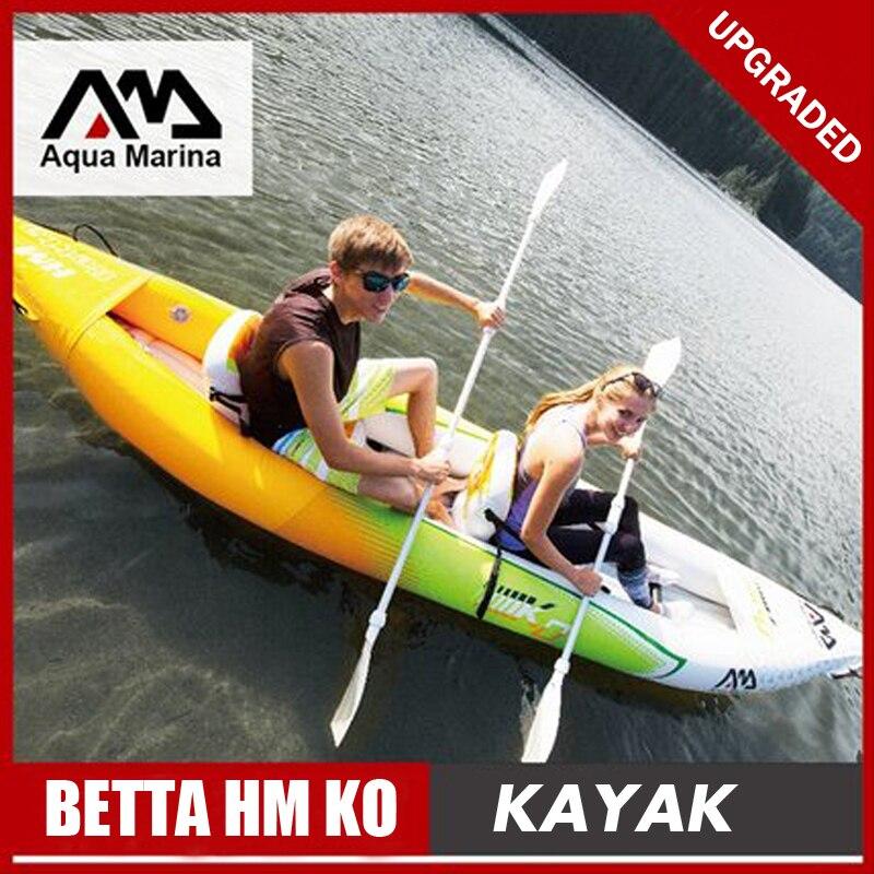 Aqua Marina BETTA HM KO gonfiabile barca da pesca sport kayak canoa pvc gommone zattera di alluminio paddle pompa a pedale sedile PVC laminato