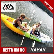 Aqua Marina надувная лодка рыбалка спортивный каяк каноэ надувная лодка из ПВХ плот алюминиевые весла насос для сидения падение стежка ламинирования A08005