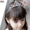 JINSE CR008 New Cute Children Kids Girls Rhinestone Princess Hair Band Crown Headband Tiara Hair Jewelry Wedding Accessories