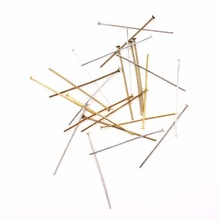 Jewelry Accessories - Jewelry Findings  - 100pcs/lot 22mm 30mm Making Jewelry DIY Finding Silver Gold Pleated Head Pins Needles
