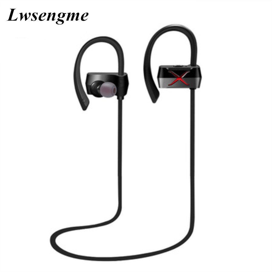 Wireless Bluetooth 4.1 headphone Stereo Voice control IPX4 Headset Sports noise cancelling earbuds for Iphone Samsung Xiaomi 2016 white and black joway h 08 wireless noise cancelling voice control sports stereo bluetooth v4 0 earphones with microphone