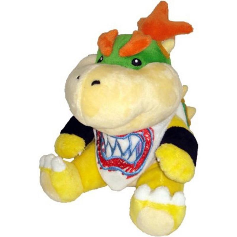 2017 New Super Mario Koopa Bowser Dragon Plush Doll Brothers Bowser JR Soft Plush Toys 18cm Free Shipping