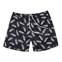 2018 hot selling men beachwear swimming white feather shorts for men running board shorts quick drying xxxl mens swim suits