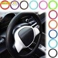 Автомобильная силиконовая перчатка на руль, кожаная текстура, мягкий разноцветный Универсальный мягкий силиконовый чехол на руль