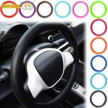 Car Auto Silicone Steering Wheel Glove Cover Leather Texture Soft Multi Color Universal Skin Soft Silicon Steering Wheel Cover