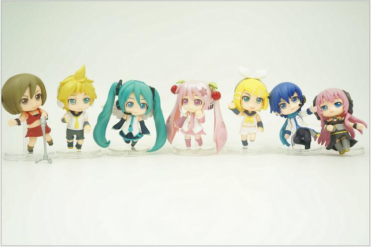 7pcs/set Hatsune Miku 1/16 Scale Painted <font><b>Figure</b></font> Luka <font><b>Kagamine</b></font> <font><b>Rin</b></font> Len PVC Action <font><b>Figure</b></font> Collectible Model Toy 7cm KT3361 image