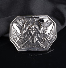 OGRM Punk Gothic Orcus Barbarian Titanium Steel Buckle Genuine Cowhide Leather Belt Men Luxury Brand Cowboy Belts High Quality