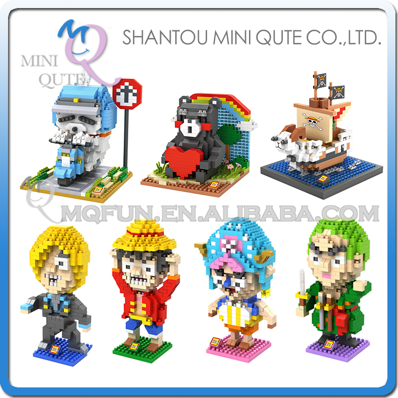 Mini Qute LOZ Anime one piece Thousand Sunny <font><b>MashiMaro</b></font> Kumamon plastic building block model <font><b>action</b></font> <font><b>figures</b></font> educational <font><b>toy</b></font>