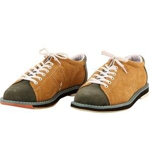 Bowling buty męskie oddychające Skidproof Sole Sneaker Outdoor Sports buty treningowe płaskie gorąca sprzedaż Athletic # B1321
