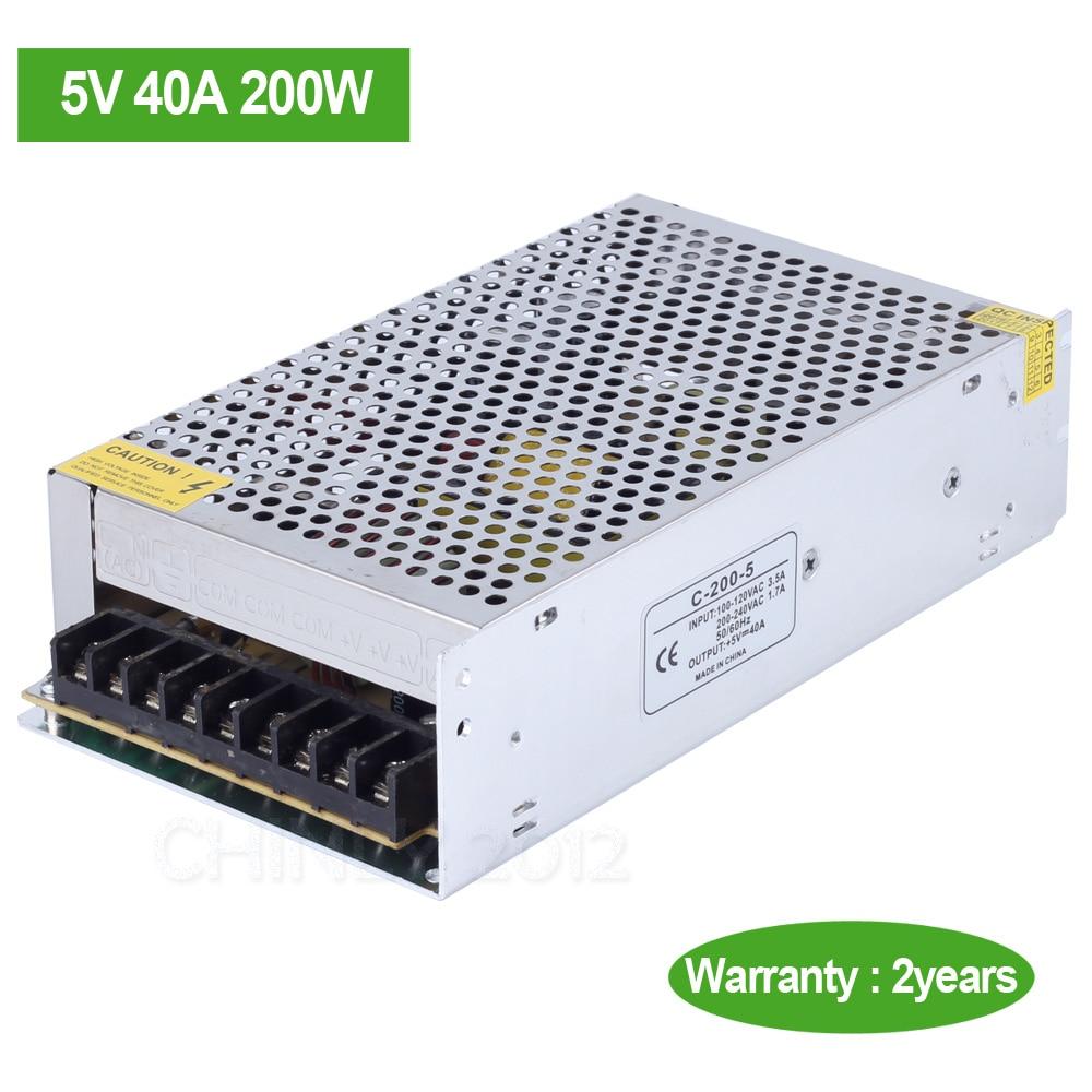 dc5v 40a 200w led driver switch power supply transformer for led strip light led module in. Black Bedroom Furniture Sets. Home Design Ideas