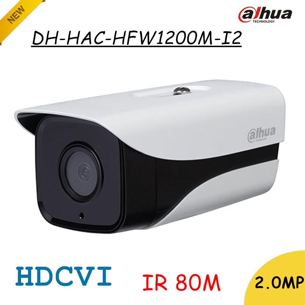 Brand Dahua 2Mp HDCVI Camera HD 1080P DH-HAC-HFW1200M-I2 Network IR Bullet Security Camera IP67 IR Distance 80m HAC-HFW1200M-I2 dahua hdcvi 1080p bullet camera 1 2 72megapixel cmos 1080p ir 80m ip67 hac hfw1200d security camera dh hac hfw1200d camera