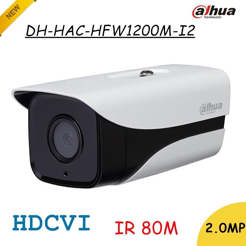 imágenes para Marca HDCVI Dahua 2Mp Cámara de Red Bullet IR Cámara de Seguridad HD 1080 P DH-HAC-HFW1200M-I2 IP67 Distancia IR 80 m HAC-HFW1200M-I2