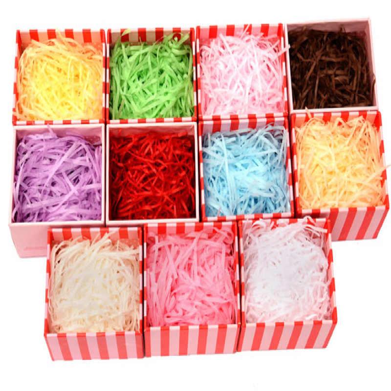 Бумажный наполнитель «Трава» DIY бумажная рафия измельченный рифленый бумага конфетти Подарочная коробка наполнитель материал Свадебная вечеринка домашний декор 7Z